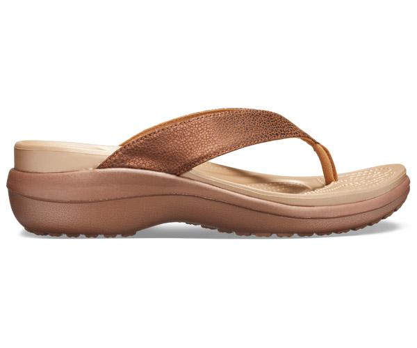 size 40 1ba35 b8162 W's Capri Metallic Wedge Flip | Crocs.ch